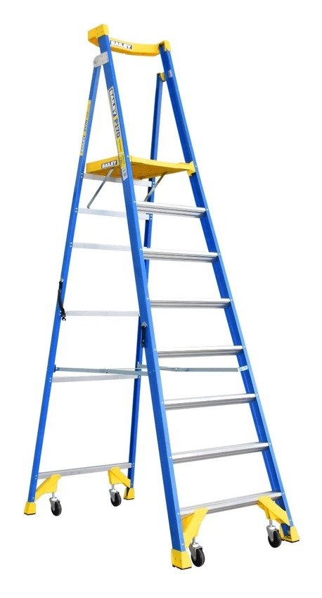 How does a bailey ladders provide work safety and stability?