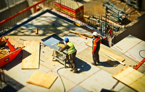 how to keep construction site clean